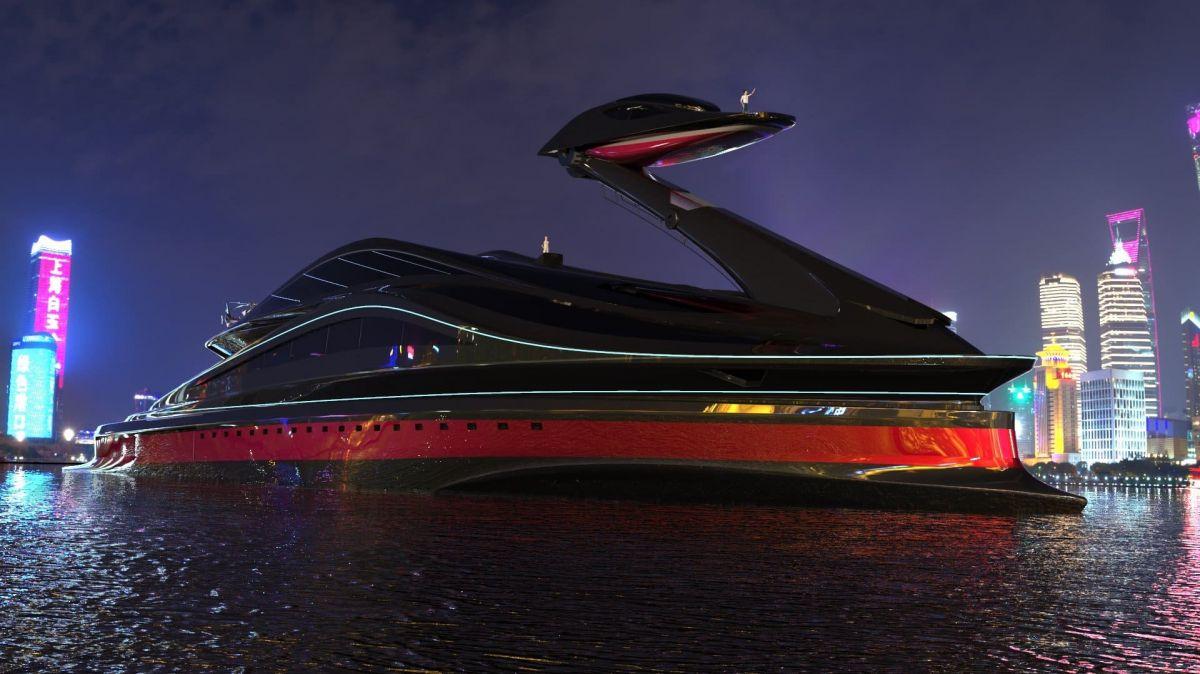 концепт 137-метровой яхты Avanguardia