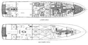 План моторной яхты Alaska Of George Town №2