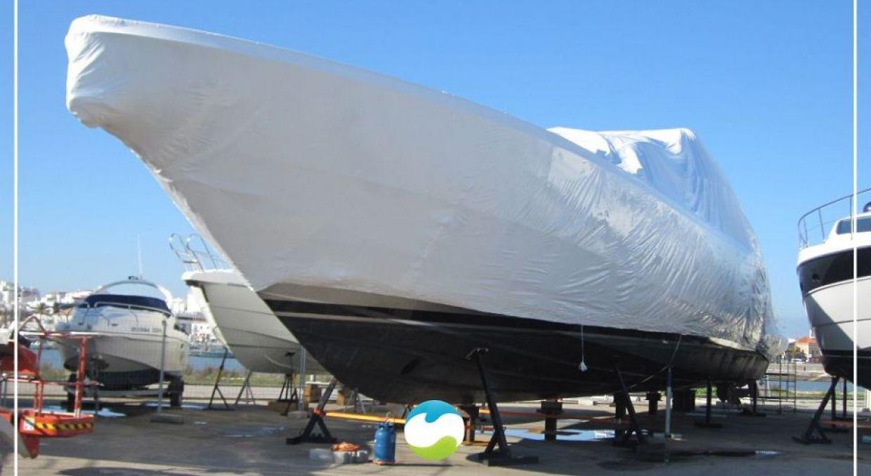 Упаковка яхт и катеров в термоусадочную плёнку